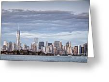 Nyc On A Cloudy Day Greeting Card