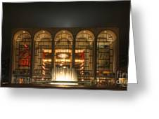 Nyc Opera House Greeting Card