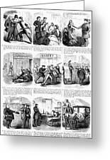 Nyc Police, 1859 Greeting Card