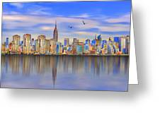 Nyc Reflections Greeting Card