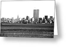 Nyc Skyline 1990s Greeting Card by John Rizzuto