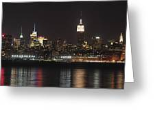 Nyc Skyline At Night Greeting Card