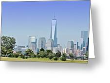 Nyc Skyline From The Park - Image 1666-01 Greeting Card