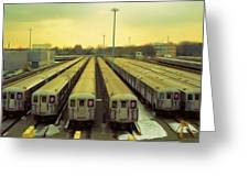 Nyc Subway Cars Greeting Card