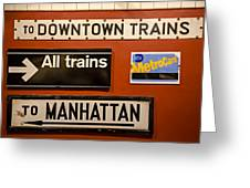 Nyc Subway Signs Greeting Card
