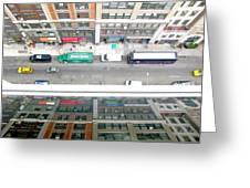Nyc Urban Reflection Greeting Card