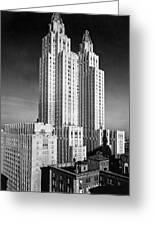 Nyc Waldorf-astoria Hotel Greeting Card