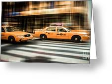 Nyc Yellow Cabs Greeting Card