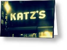 Nyc's Famous Katz's Deli Greeting Card