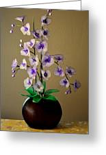Nylon Stocking Orchid Greeting Card