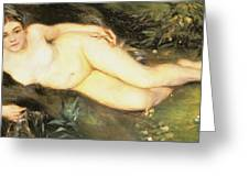 Nymph At The Stream Greeting Card