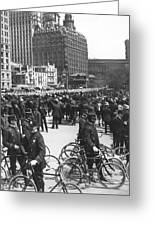Nypd Bicycle Force Greeting Card