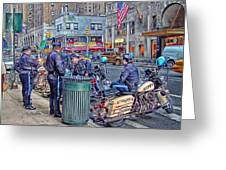 Nypd Highway Patrol Greeting Card by Ron Shoshani