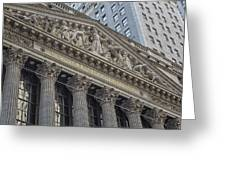 Nyse  New York Stock Exchange Wall Street Greeting Card