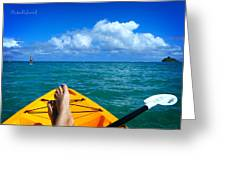 Oahu Toes Greeting Card