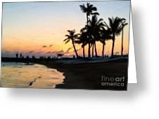 Oahu Sunset Greeting Card