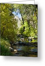 Oak Creek Canyon Creek Arizona Greeting Card