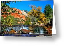 Oak Creek Cascade Greeting Card