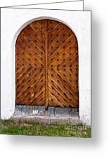 Oak Double Door Greeting Card