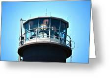 Oak Island Lighthouse Beacon Lights Greeting Card