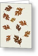 Oak Leaves Art Greeting Card