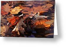Oak Leaves Greeting Card