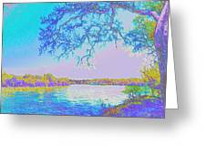 Oak On The Sacramento River - Pastel Greeting Card