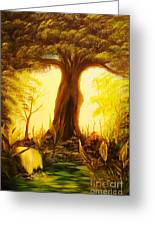 Oak Tree Lake-original Sold- Buy Giclee Print Nr 33 Of Limited Edition Of 40 Prints  Greeting Card