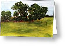 Oak Trees Greeting Card by Andrea Friedell