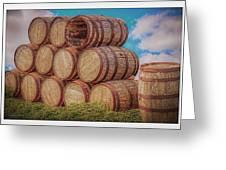 Oak Wine Barrels Greeting Card
