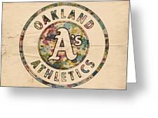 Oakland Athletics Poster Vintage Greeting Card