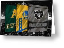 Oakland Sports Teams Greeting Card