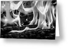 Oakwood Flames Greeting Card