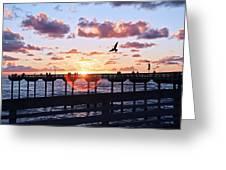 Ob Pier  Greeting Card