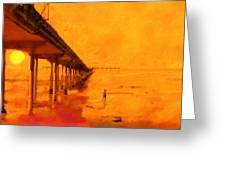 Ob Sunset Greeting Card
