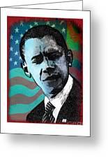 Obama-3 Greeting Card