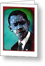 Obama-4 Greeting Card