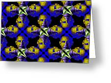 Obama Abstract 20130202m118 Greeting Card