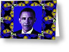 Obama Abstract Window 20130202m118 Greeting Card by Wingsdomain Art and Photography