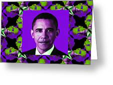 Obama Abstract Window 20130202m88 Greeting Card by Wingsdomain Art and Photography