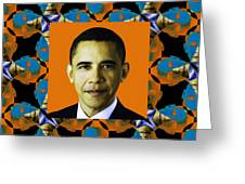 Obama Abstract Window 20130202p28 Greeting Card by Wingsdomain Art and Photography
