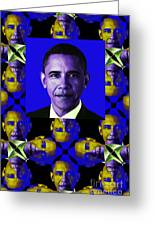 Obama Abstract Window 20130202verticalm118 Greeting Card by Wingsdomain Art and Photography