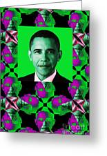 Obama Abstract Window 20130202verticalp128 Greeting Card by Wingsdomain Art and Photography