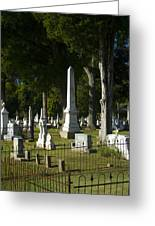 Obelisk And Headstones Greeting Card