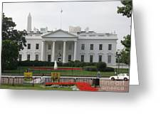 Obelisk And White House Greeting Card
