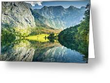 Obersee In Bavaria Greeting Card
