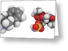 Obesity Drug Molecule Greeting Card