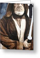 Obi Wan Kenobi Greeting Card by David Kraig