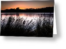 Obidos Lagoon Sunrise Greeting Card