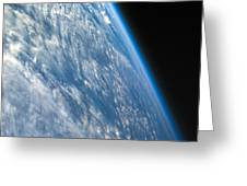 Oblique Shot Of Earth Greeting Card